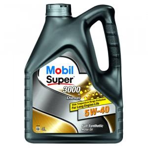 Моторное масло Mobil Super 3000 X1 Diesel 5W-40 (4 л)