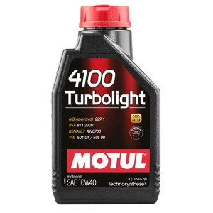 Моторное масло Motul 4100 Turbolight 10W-40 (1 л)