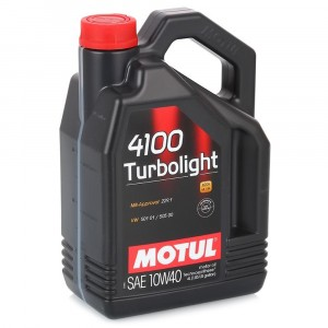 Моторное масло Motul 4100 Turbolight 10W-40 (4 л)