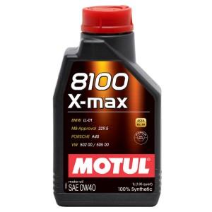 Моторное масло Motul 8100 X-max 0W-40 (1 л)