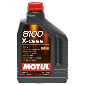 Моторное масло Motul 8100 X-cess 5W-40 (2 л)