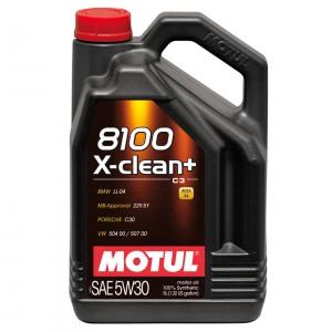 Моторное масло Motul 8100 X-clean+ 5W-30 (5 л)