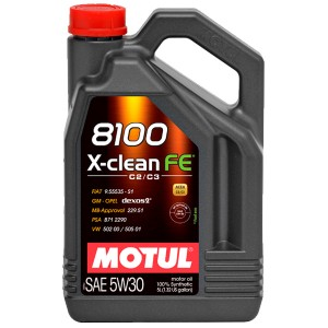 Моторное масло Motul 8100 X-clean FE 5W-30 (5 л)