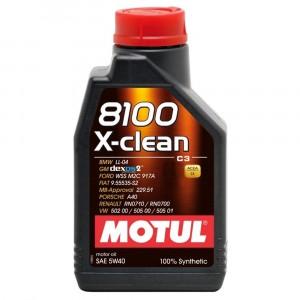 Моторное масло Motul 8100 X-clean 5W-40 (2 л)