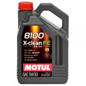 Моторное масло Motul 8100 X-clean FE 5W-30 (4 л)