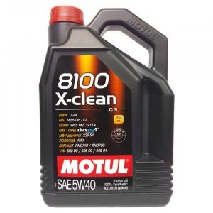 Моторное масло Motul 8100 X-clean 5W-40 (4 л)