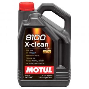 Моторное масло Motul 8100 X-clean 5W-40 (5 л)