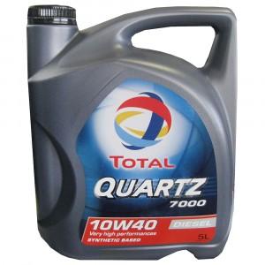 Моторное масло Total Quartz 7000 Diesel 10W-40 (5 л)
