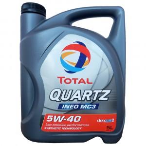 Моторное масло Total Quartz Ineo MC3 5W-40 (5 л)