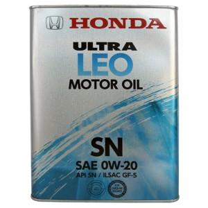 Моторное масло Honda Ultra LEO 0W-20 (4 л)