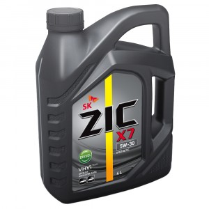 Моторное масло ZIC X7 Diesel 5W-30 (4 л)